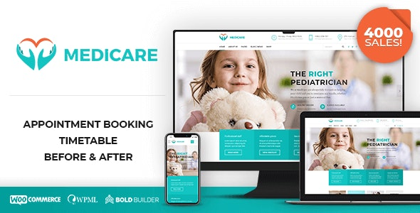 Medicare v1.7.3 – 在线医生/医疗保健类WP主题