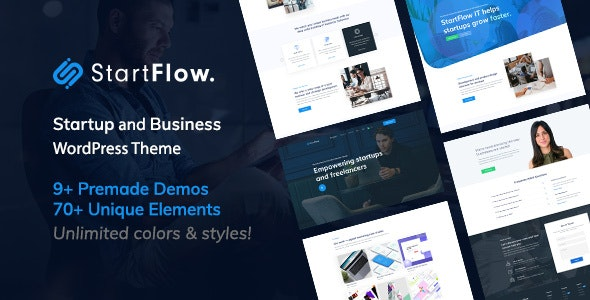 Start Flow v1.12 – 启动/创意多用途WordPress主题