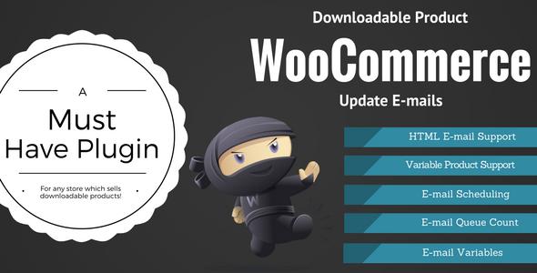 WooCommerce 可下载产品更新电子邮件 v2.0.6