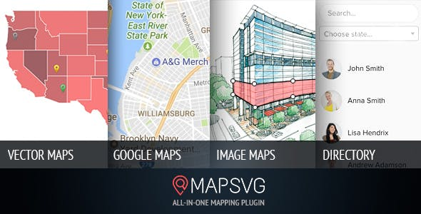 MapSVG v5.15.0 – WordPress地图插件