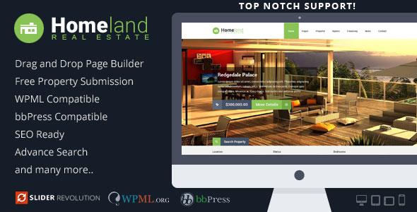 Homeland v3.1.0 – Responsive Real Estate WordPress Theme