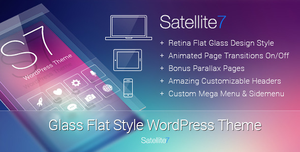 Satellite7 v2.6 – Retina Multi-Purpose WordPress Theme