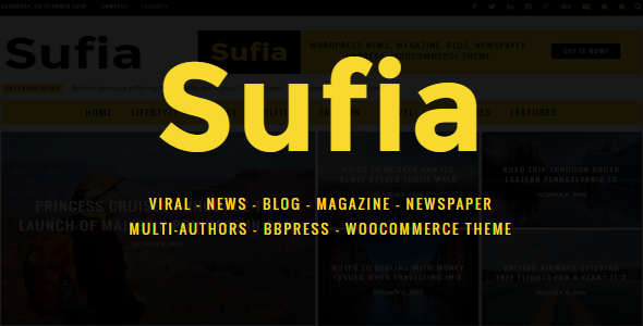 Sufia – News Blog Magazine Newspaper Multipurpose Theme