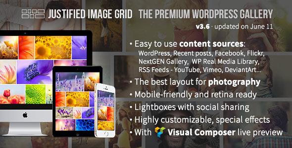 Justified Image Grid v3.6 – Premium WordPress Gallery