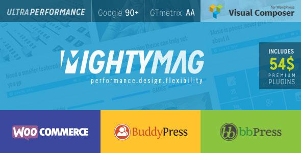 MightyMag v2.1 – 杂志,商店,社区类WP主题