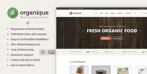 Organique v1.11.3 - WordPress Theme For Healthy Food Shop