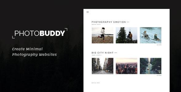 PhotoBuddy v1.0.3 – 摄影WordPress主题