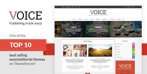 Voice v2.4 – Clean News/Magazine WordPress Theme