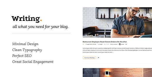 Writing v3.0.5 - 简洁/博客类WordPress主题