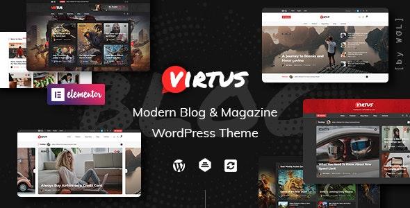 Virtus v1.1.0 – 现代博客/杂志WordPress主题