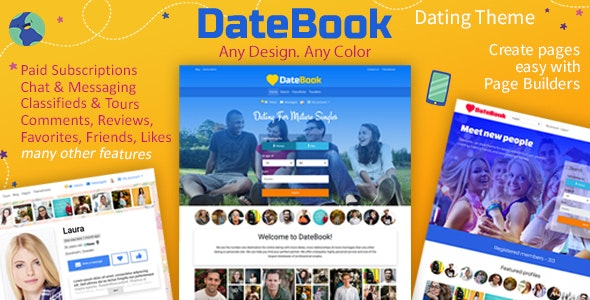 DateBook v4.5.1 – 约会WordPress主题