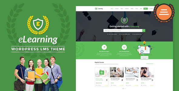 LMS WordPress Theme – eLearning WP v3.0