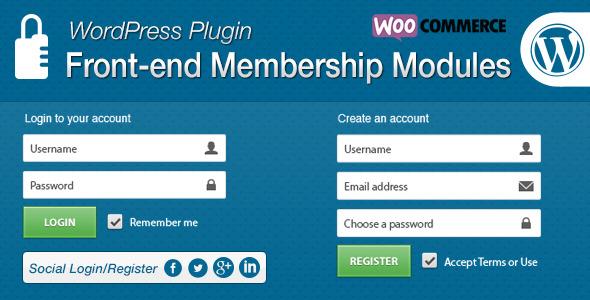 Front-end Membership Modules v1.6.9