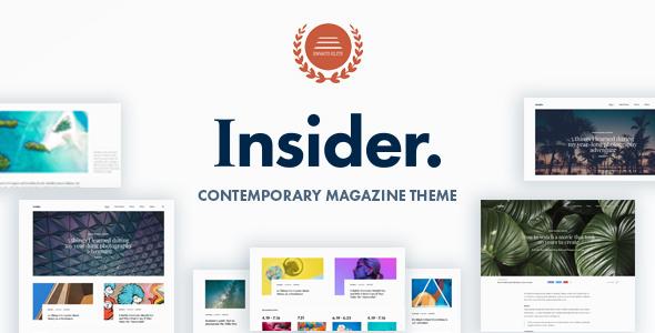 Insider v1.5 – 当代杂志和博客主题