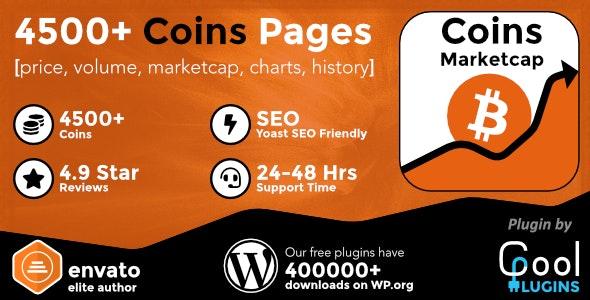 Coins MarketCap v4.4 – WordPress加密货币插件