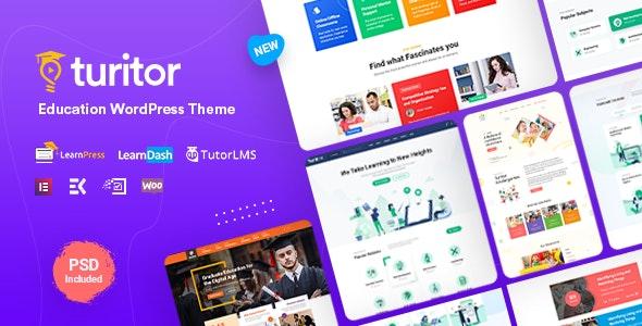Turitor v1.2.3 – LMS/教育WordPress主题