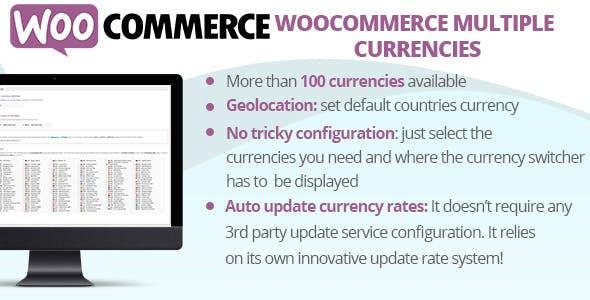 WooCommerce Multiple Currencies v5.2 – 多种货币