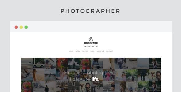 Photographer v2.3 – A WordPress Theme For Photographers