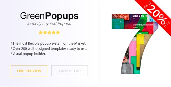 Green Popups (formerly Layered Popups) v7.04 – 独立弹窗脚本