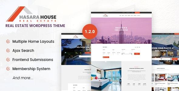 Hasara House v1.2.0 – 房地产自适应WordPress主题