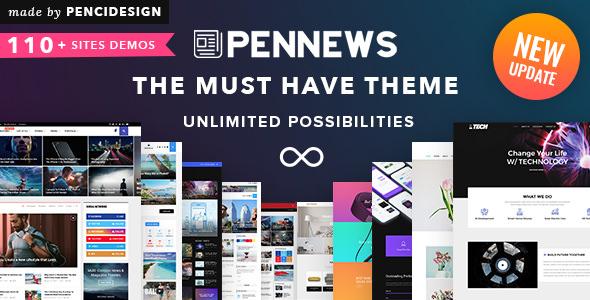 PenNews v6.5.8 – 新闻/杂志/商业/作品集WordPress主题