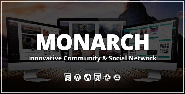 Monarch v2.0.0 – 社区类WordPress主题