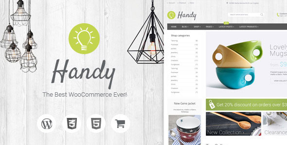 Handy v5.1.1 – 手工制作商店WordPress WooCommerce主题