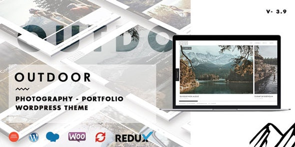 Outdoor v3.9.3 – 创意摄影/作品组合WordPress主题