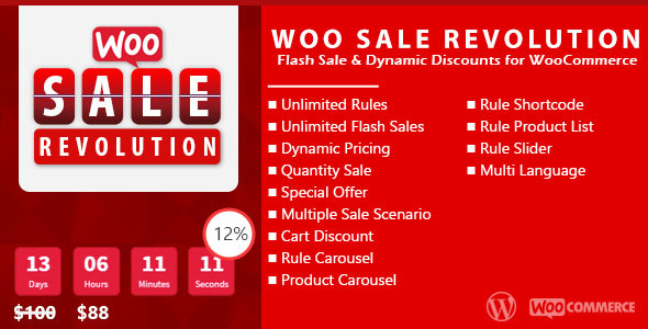 Woo Sale Revolution v3.0 – Flash Sale+Dynamic Discounts