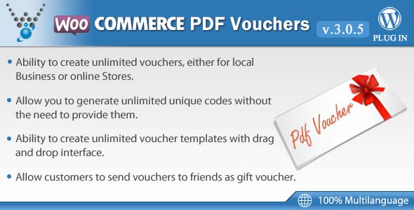 WooCommerce PDF Vouchers v3.1.0 – WordPress Plugin