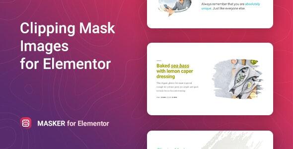 Masker v1.0.0 – Elementor剪切蒙版组件
