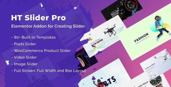 HT Slider Pro For Elementor v1.0.3 – 滑块组件