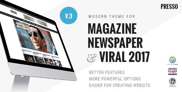 PRESSO v3.1.0 – Modern Magazine / Newspaper / Viral Theme
