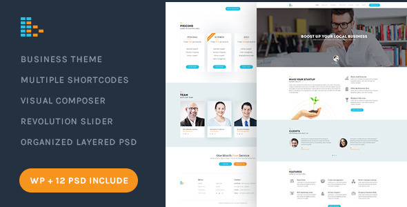 Bplus v1.8 – Business & Consultancy WordPress Theme