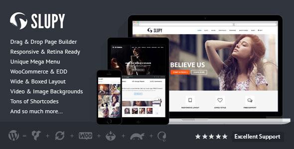 Slupy v1.1.7 – Responsive Multi-Purpose WordPress Theme