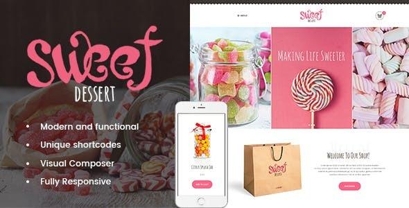 Sweet Dessert v1.1.3 – 糖果店和咖啡厅WordPress主题