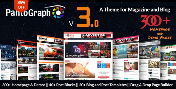 PantoGraph v3.6.3 – 报纸杂志WordPress主题