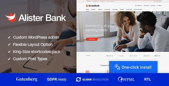 Alister Bank v1.1.2 - 信贷和银行金融WordPress主题