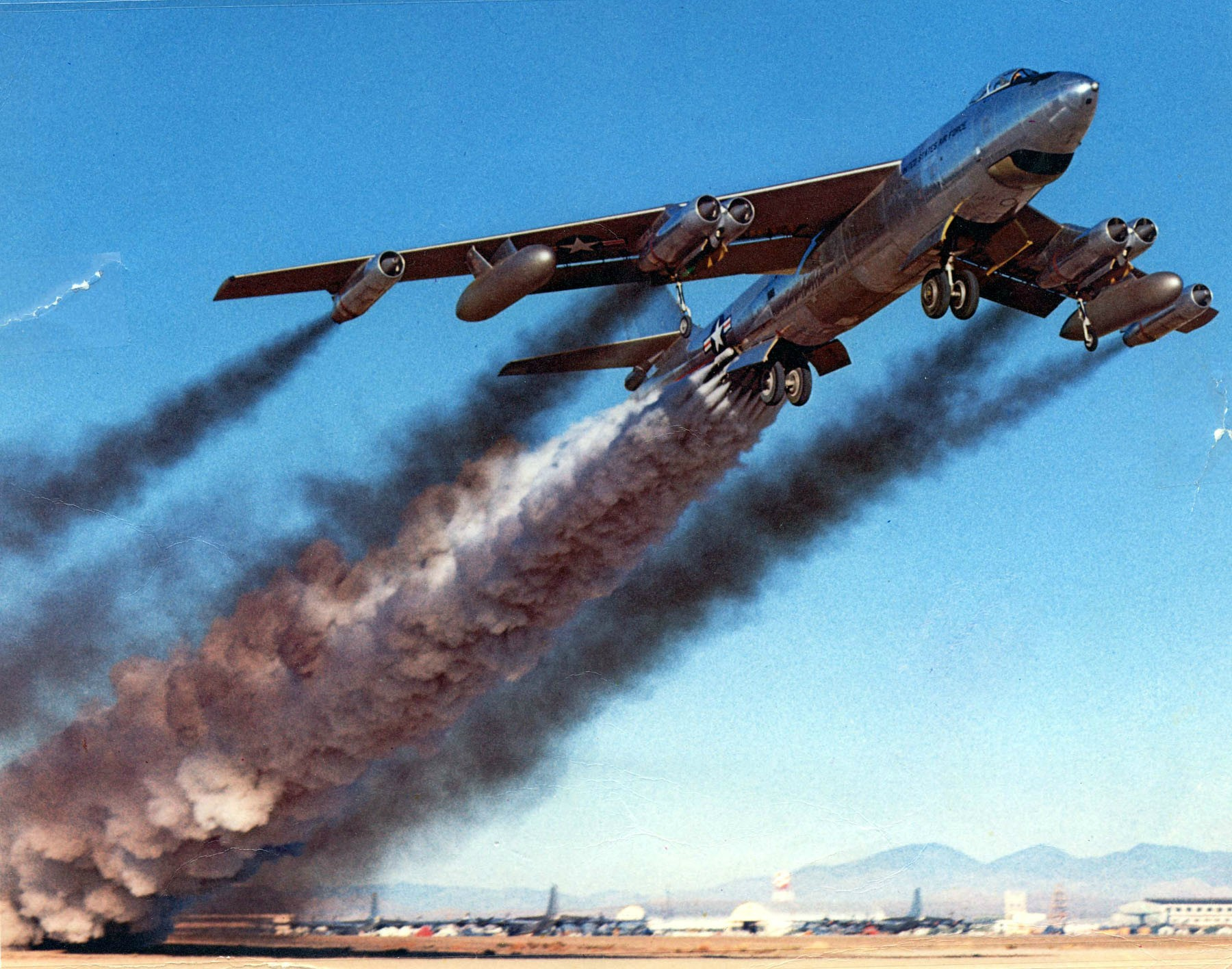 Boeing B-47 utilizing rocket assisted takeoff April 15, 1954