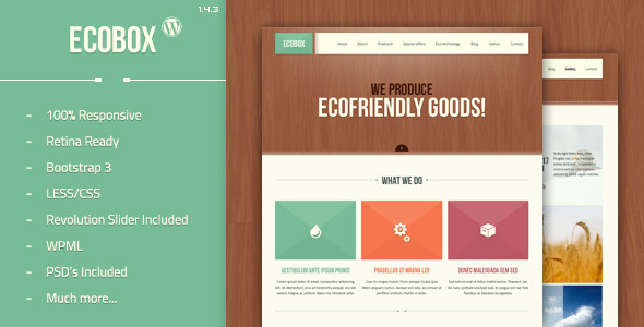 Ecobox v1.4.3 - Responsive WordPress Theme