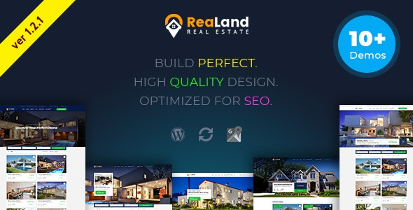 ReaLand v1.2.1 - 房地产/响应式WordPress主题