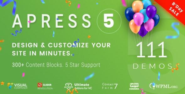Apress v5.2.3 – 响应式多用途WordPress主题
