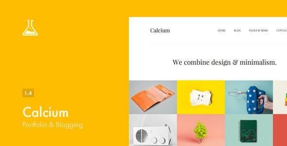 Calcium v1.4 – 极简组合,博客类WordPress主题