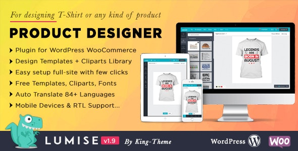 Lumise Product Designer v1.9.3 – WooCommerce电商WordPress插件