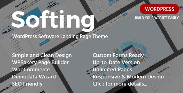 Softing v1.3.2 - WordPress软件登陆页面主题