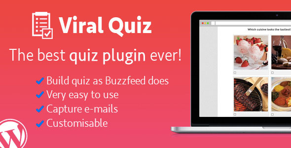 WordPress Viral Quiz v4.0.6 - BuzzFeed测验生成器
