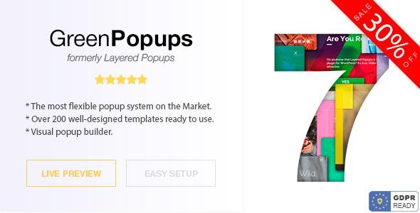 Green Popups (formerly Layered Popups) v7.2.1 – WordPress弹出窗口插件