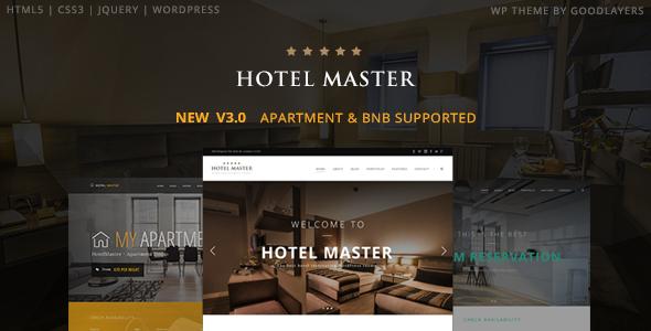 Hotel Master v3.01 – Hotel Booking WordPress Theme