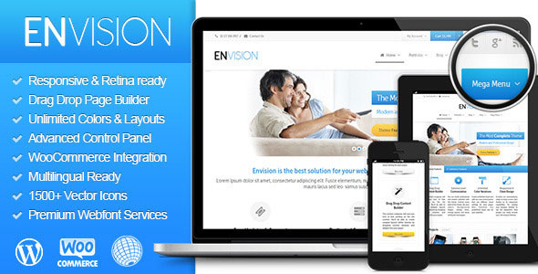 Envision v3.2.0 – 响应式/视网膜/多用途WordPress主题