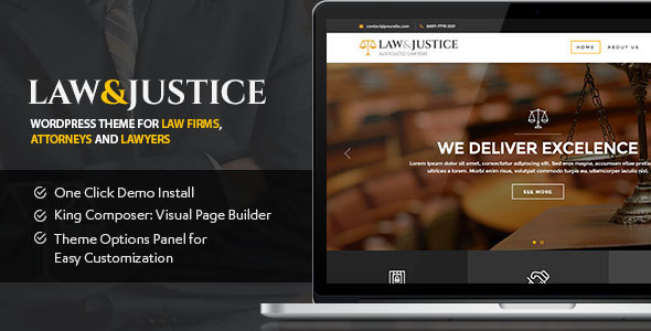 Law & Justice v1.1.5.3 – Law Firm, Lawyers & Attorneys Theme